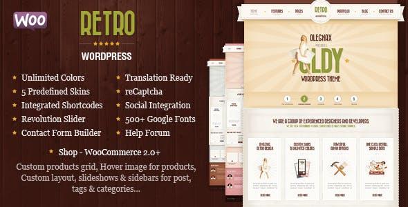 Retro - Tema Vintage WooCommerce - Tema de paquete simple, receptivo ...