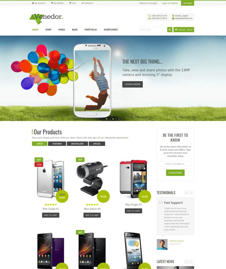Venedor - WooCommerce Theme / WordPress - eCommerce Theme & amp ...