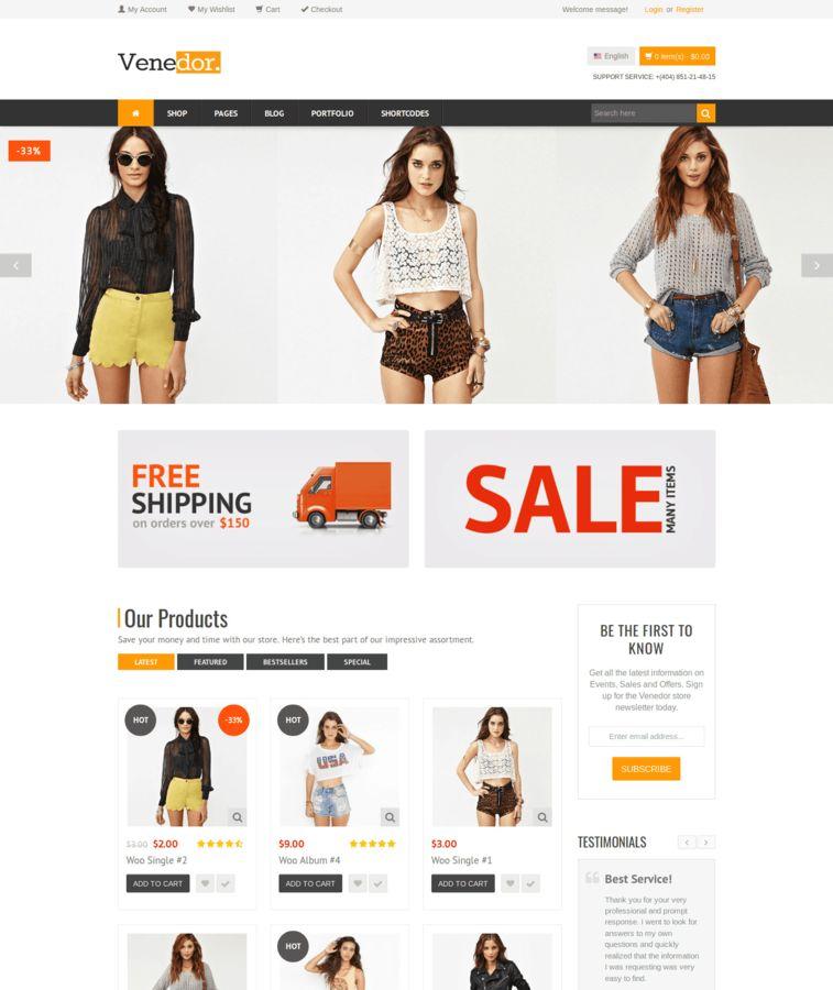 Venedor - Tema de WooCommerce / WordPress - Tema de eCommerce y amp ...