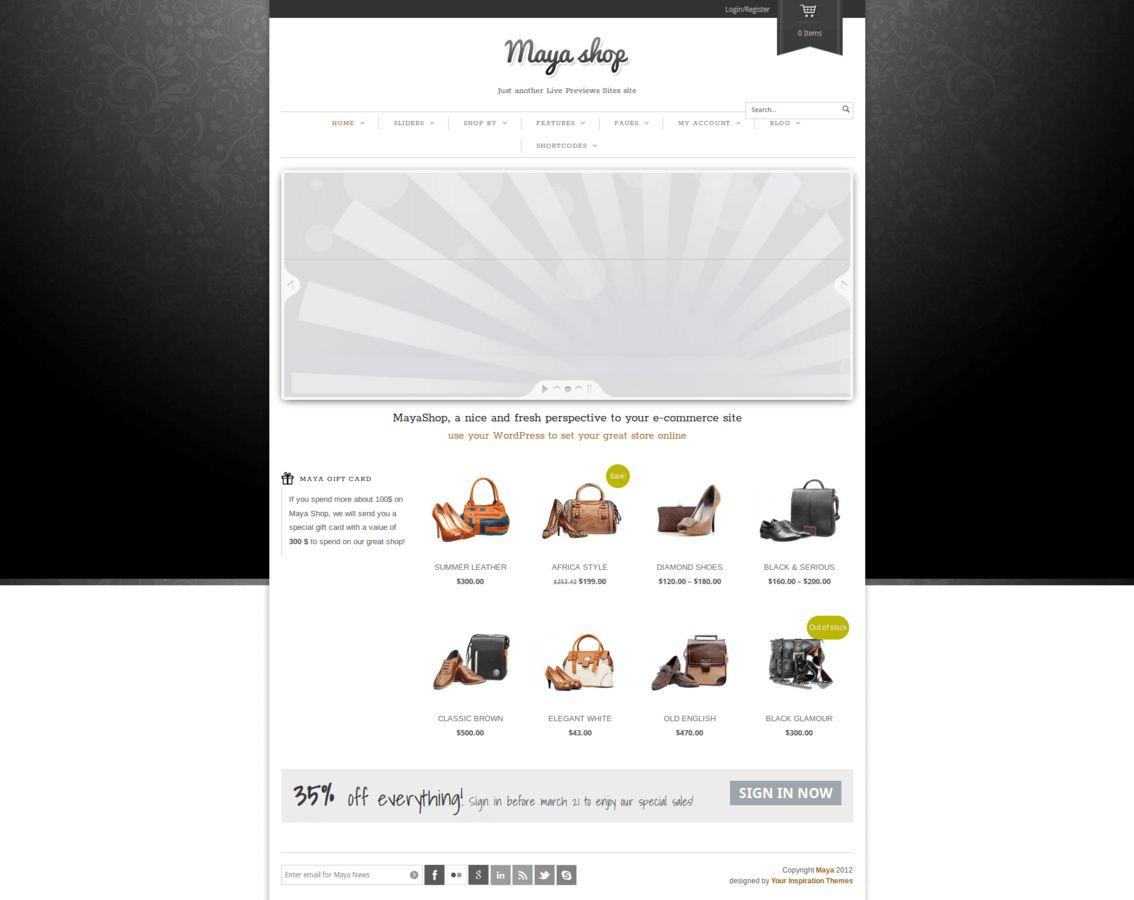 Maya Shop - Modern and Simple Theme - WooCommerce Theme