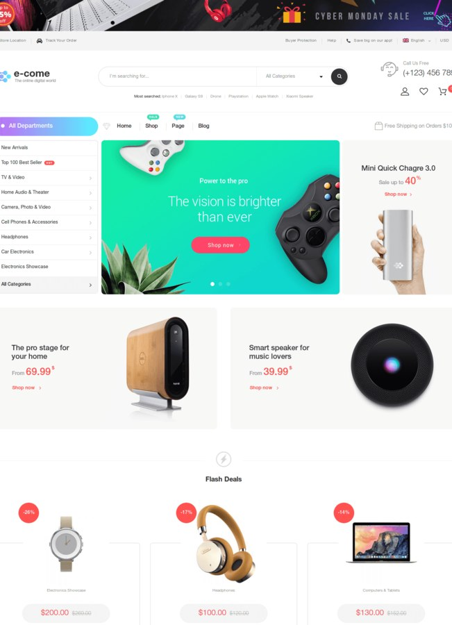 ecome woocommerce theme affiliation amazon mobile first